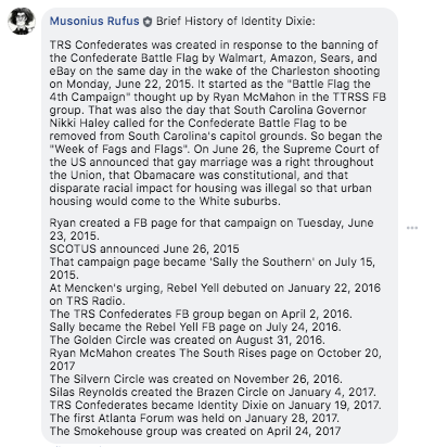 Brief History of Identity Dixie