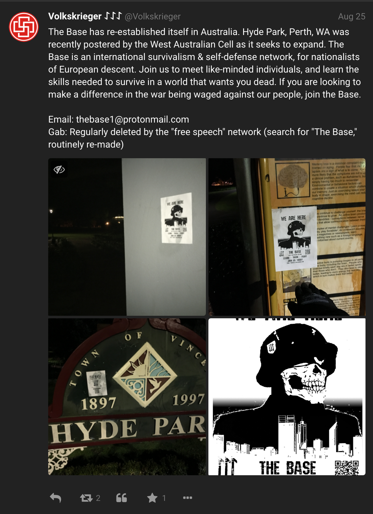 Volkskrieger post