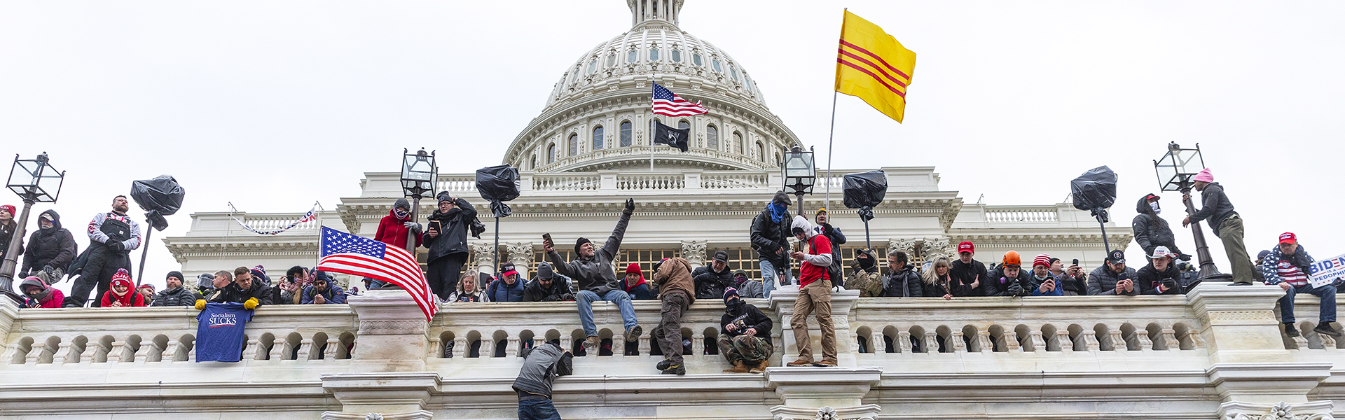 Trump supporters storming the U.S. Capitol on Jan. 6, 2021