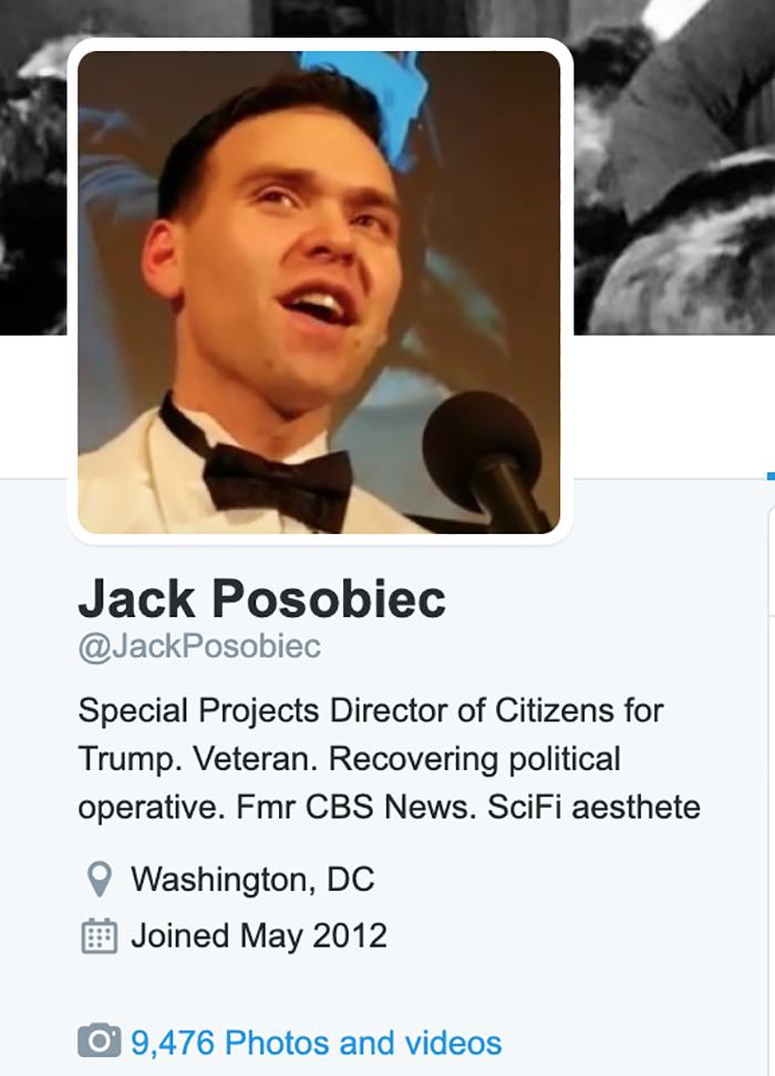 Posobiec Twitter bio