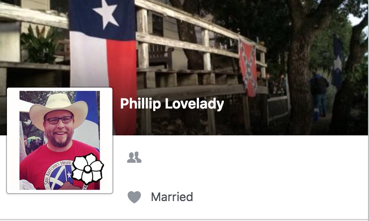Phillip Lovelady's Facebook profile