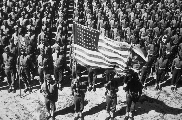 A Black Corps of Engineers batallion during World War II
