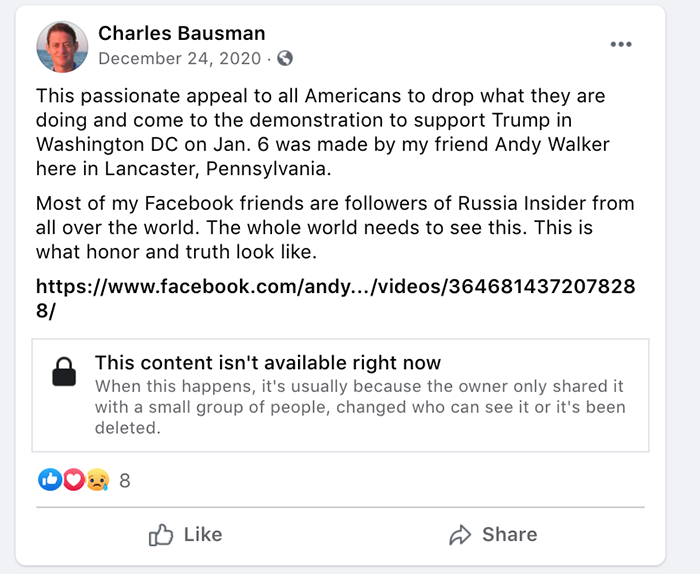 Bausman Facebook post