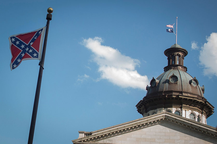 South Carolina removed this Confederate flag in July 2015.