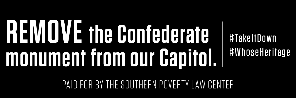 Anti-Confederate Billboard Presses for Removal of Confederate Monument from Georgia Capitol Lawn