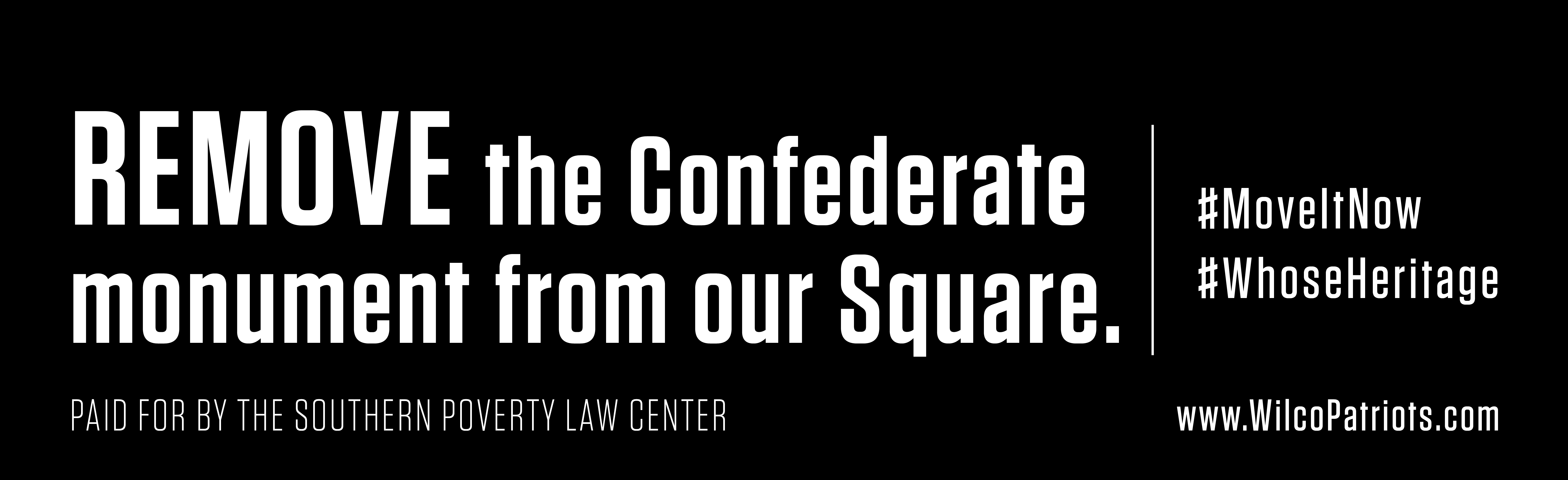 #MoveItNow: Billboard Tells Williamson County to Evict Confederate Monument
