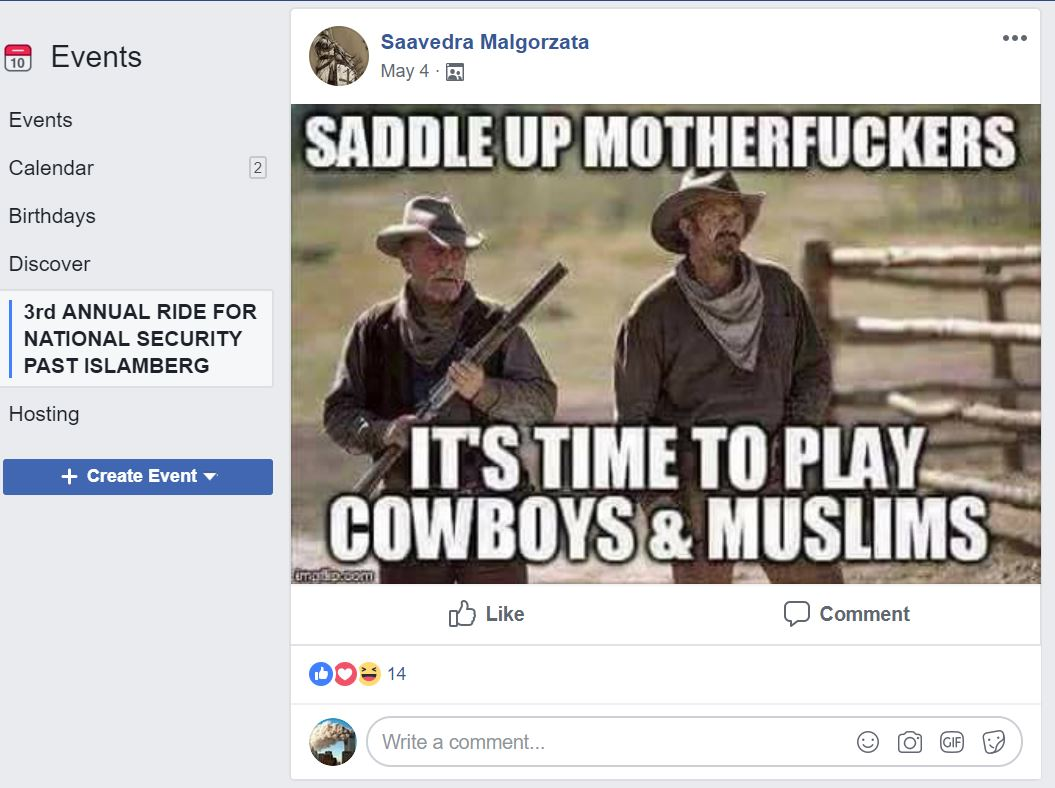 Cowboys and muslims screen shot