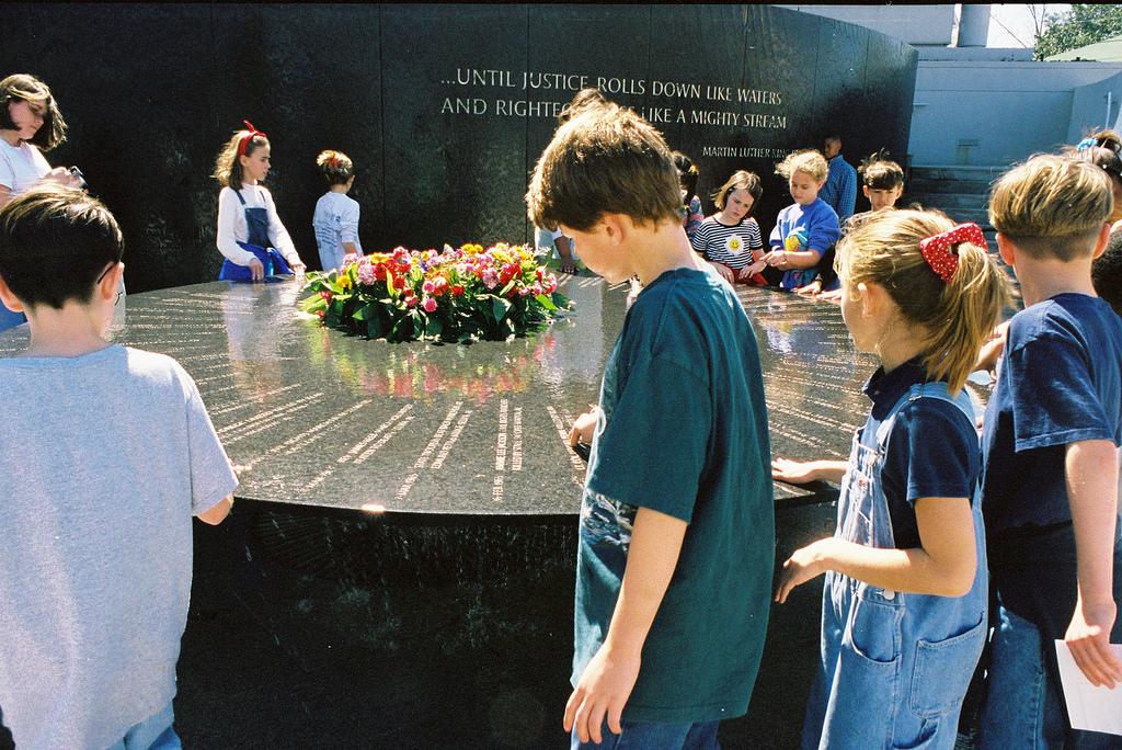 Schoolchildren visit the Memorial