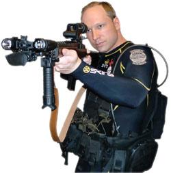 Breivik dressed as a policeman