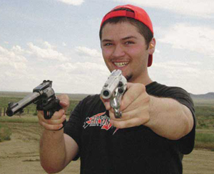 Allen Goff with guns