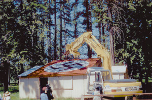 Aryan Nations building destroyed