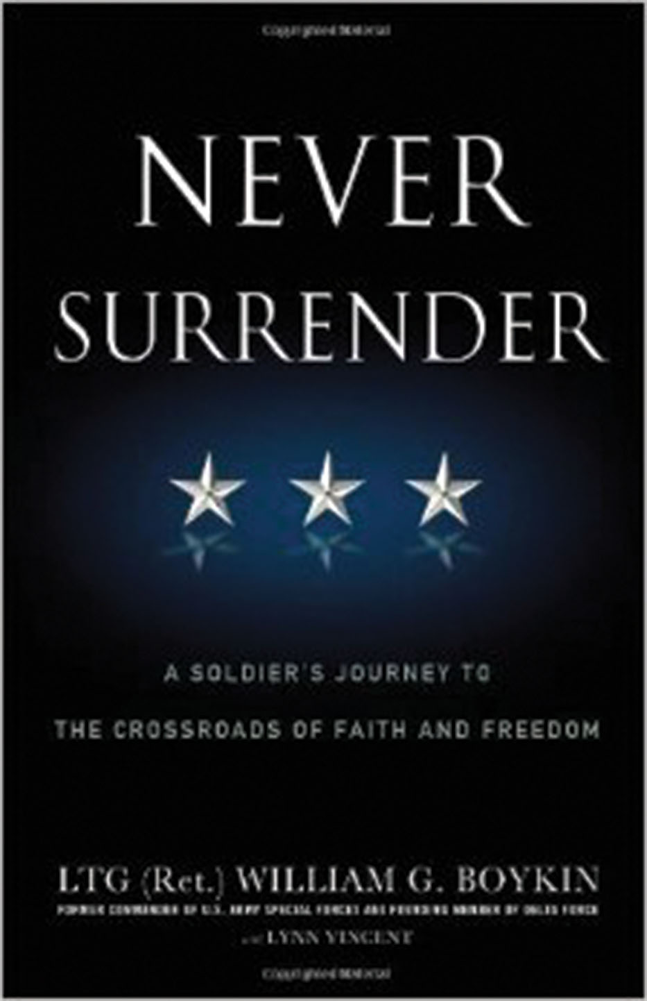 """Never Surrender"" book cover"