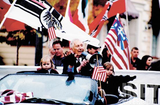 Richard Butler in parade rally