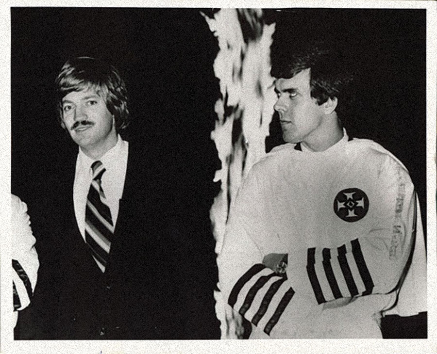 "David Duke (left) ""back in the day."""