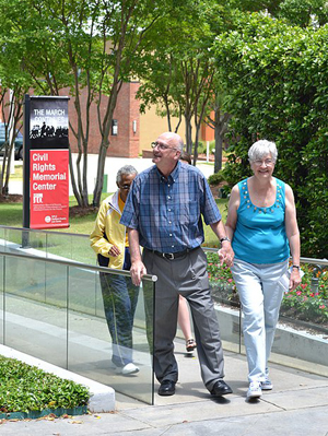 Freedom Rider Jim Zwerg and wife at the Civil Rights Memorial Center