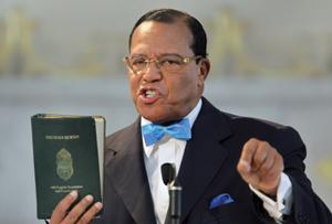 Louis Farrakhan with Quran