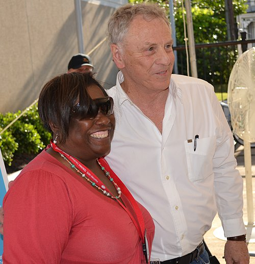 Morris Dees and supporter at SPLC's 40th Anniversary Celebration