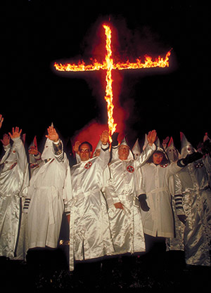 For the KKK, a cross burning is sending out the light of Christ to the world.