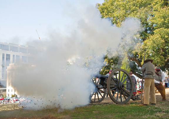 Cannons at Sons of Confederate Veterans sequicentennial