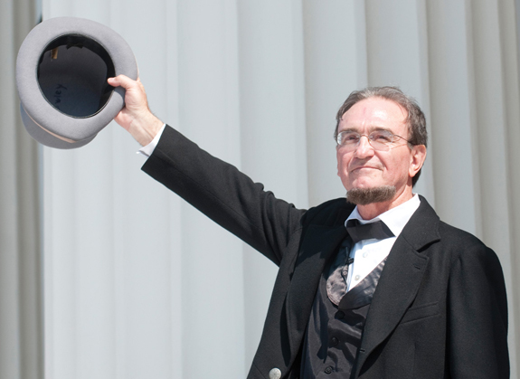 """Jefferson Davis"" at Sons of Confederate Veterans sequicentennial"