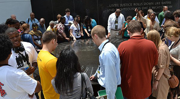 2011 Student Freedom Riders at the Civil Rights Memorial