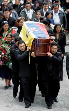 José Sucuzhañay funeral