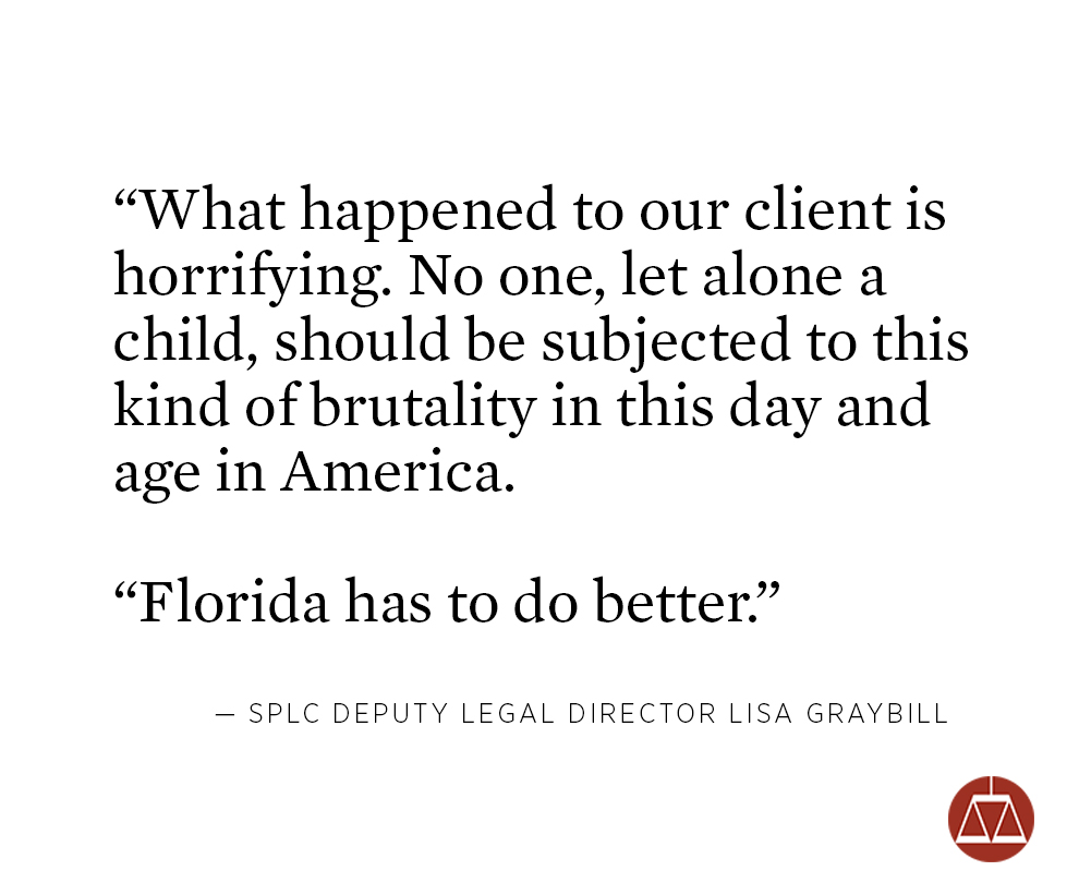 Minor Beaten And Raped In Florida Prison Wins Settlement In SPLC And FLS  Suit | Southern Poverty Law Center
