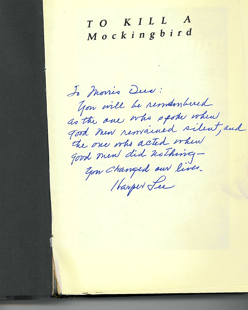 inscription from Harper Lee