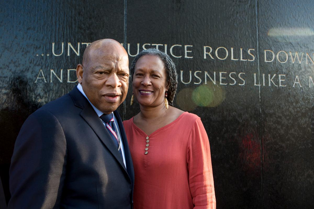 image with Congressman John Lewis and Lecia Brooks