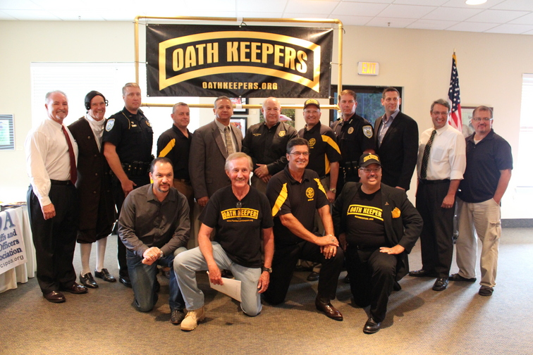 Florida Sheriff Nick Finch with members of the Oath Keepers