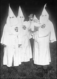 a history of the american hate group the ku klux klan Ku klux klan the ku klux klan ( kkk ), or just the klan , is the name of three distinct movements in the united states that first began violence against african americans in the south during the reconstruction era of the 1860s, and was disbanded by 1869.