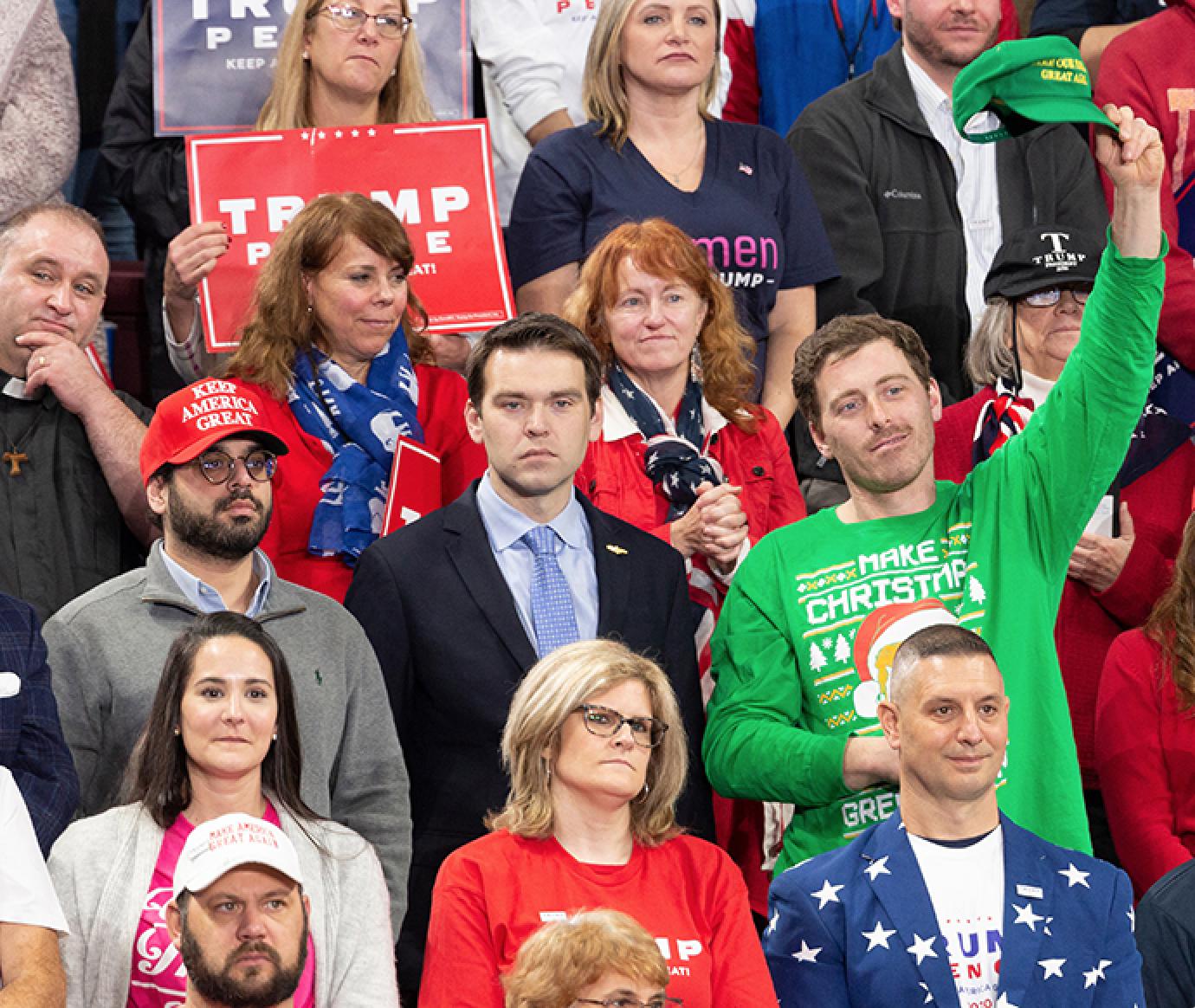 Jack Posobiec at Trump rally