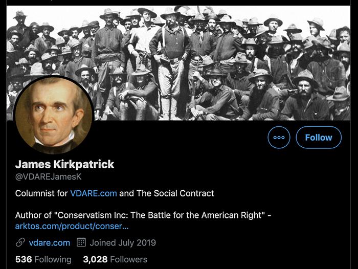 """""""James Kirkpatrick"""" Twitter account"""