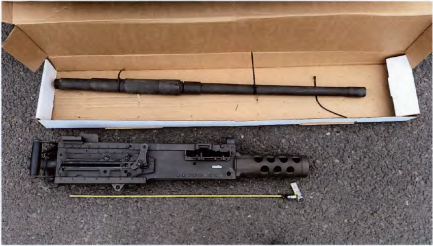 machine gun arrested