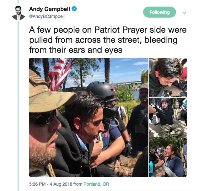 Patriot Prayer injuries