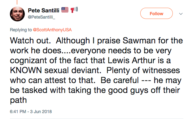 Pete Santilli Arizona tweet