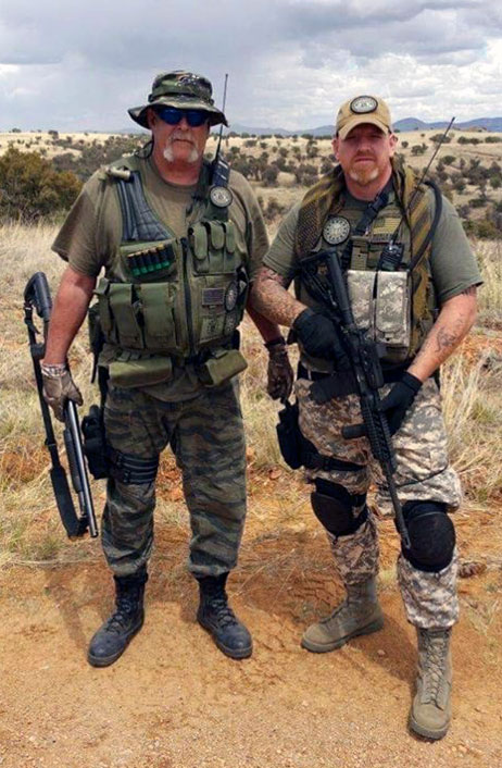 "Ron ""Cornbread"" Stone (left) and Jimmy ""Bull"" Bonham posing for a photograph during a border operation."