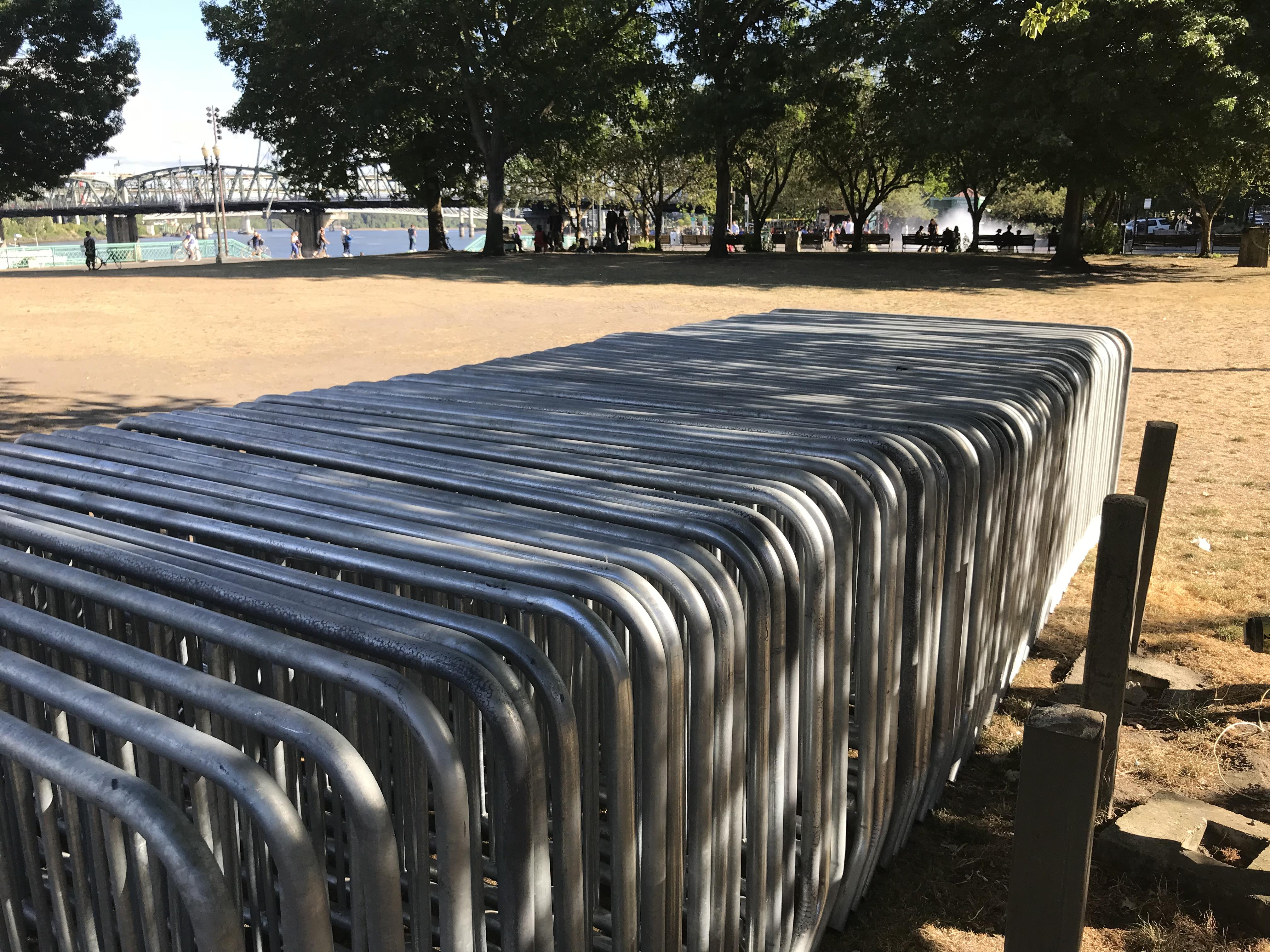 Barricades in Portland, Oregon