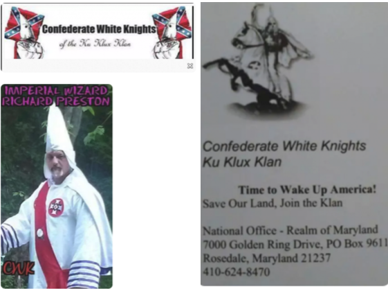 Imperial Wizard of the Confederate White Knights of the Ku Klux Klan, Richard Preston, was arrested at Unite the Right for discharging a firearm.
