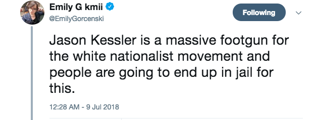 Emily Gorcenski on Jason Kessler