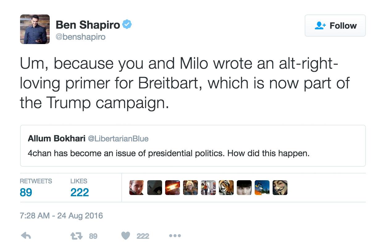 Shapiro Alt-Right Breitbart