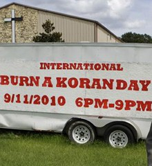 Burn a Koran Day sign
