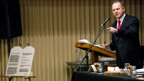 Supreme Court Chief Justice Roy Moore delivers a pro-life address in Mississippi.