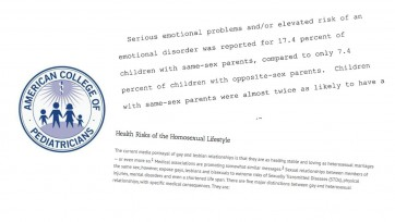 American college of pediatricians homosexual parenting styles