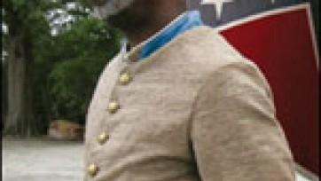 Lonely Black Neo-Confederate Furls His Flag