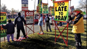 Fred Phelps' Latest Tactic Shocks Foes From Left to Right