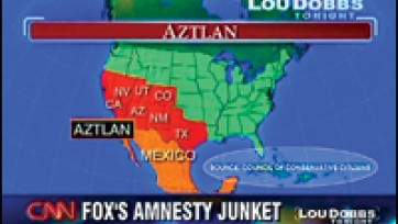 Using Hate Group Materials, Dobbs Slams Illegal Immigration