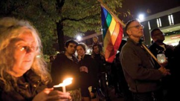 Gay suicides candlelight vigil