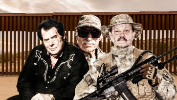 Border militia leaders Larry Hopkins, Robert Crooks and Jim Peyton