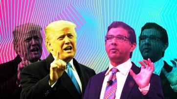 Donald Trump and Dinesh D'Souza